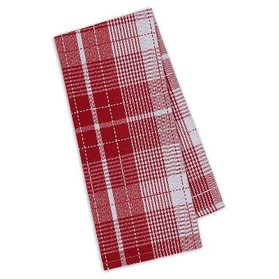 Red Plaid Dishtowel Red Set Of 4 (18 X28 )- Design Imports