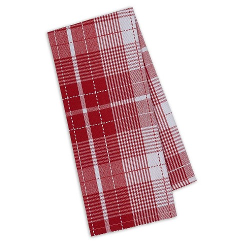 "Red Plaid Dishtowel Red Set Of 4 (18""X28"") - Design Imports - image 1 of 1"
