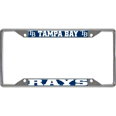 MLB Tampa Bay Rays Stainless Steel License Plate Frame