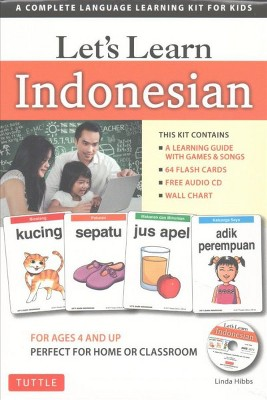 Let's Learn Indonesian : A Complete Language Learning Kit for Kids (Paperback)(Linda Hibbs)