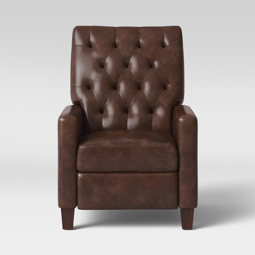 Felton Pushback Recliner Faux Leather Espresso (Brown) - Threshold