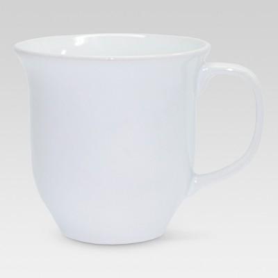 Scallop Ceramic Mug 11.83oz Set of 4 - White - Threshold™