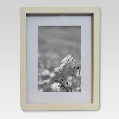 Thin Rounded Corner Wood Frame 6X8 Sour Cream - Threshold™ - image 1 of 4