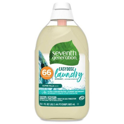 Seventh Generation EasyDose Ultra-Concentrated 66-Loads Laundry Detergent Alpine Falls - 23.1 fl oz