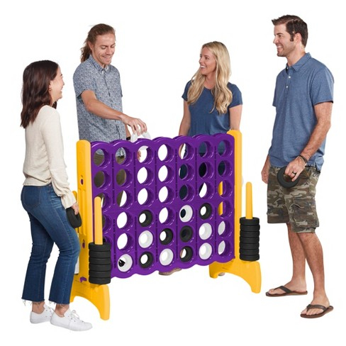 ECR4Kids Jumbo Four-To-Score Giant Game-Indoor/Outdoor 4-In-A-Row Connect - Purple and Gold - image 1 of 4