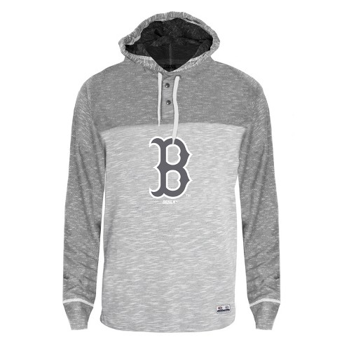 new products eacb7 45f77 Boston Red Sox Men's Clubhouse Tonal Henley Hoodie L