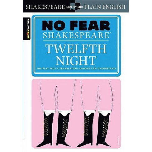 Twelfth Night (No Fear Shakespeare) - (Sparknotes No Fear Shakespeare) by  Sparknotes (Paperback) - image 1 of 1