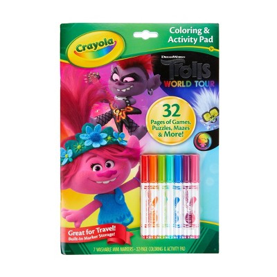 Crayola 32pg Trolls 2 World Tour Color & Activity Pad (with 7 Mini Markers)