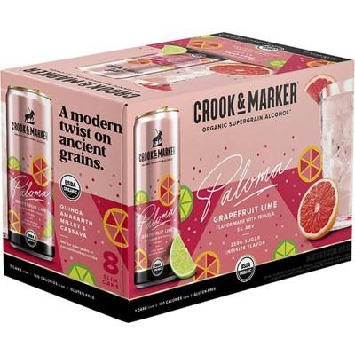 Crook & Marker Grapefruit Paloma - 8pk/11.5 fl oz Cans
