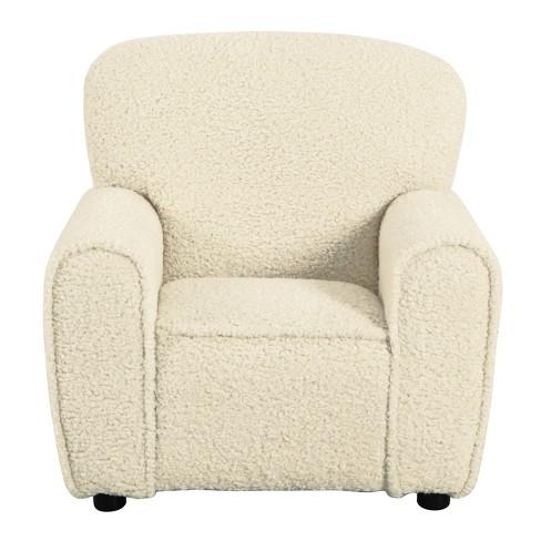 Kids Club Chair Faux Sheepskin Fur Natural - HomePop - image 1 of 8
