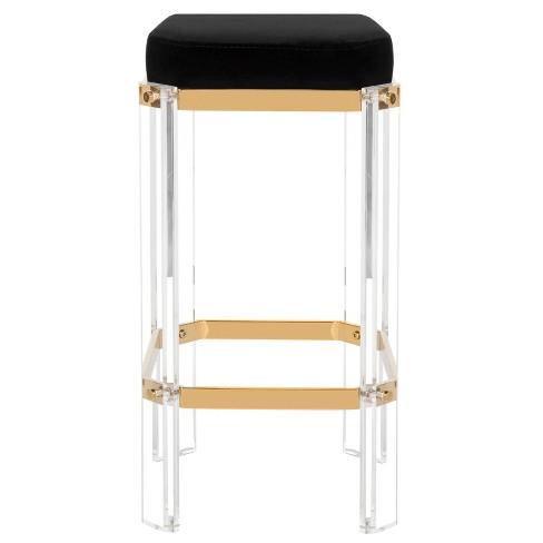 Excellent Counter And Bar Stools Barstool Gold Black Safavieh Inzonedesignstudio Interior Chair Design Inzonedesignstudiocom