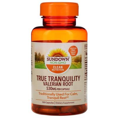 Sundown Naturals True Tranquility, Valerian Root, 530 mg, 100 Capsules, Herbal Supplements