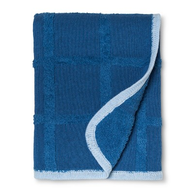 Sweater Knit Baby Blanket Solid - Cloud Island™ Blue