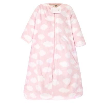 Hudson Baby Infant Girl Plush Sleeping Bag, Sack, Blanket, Pink Clouds