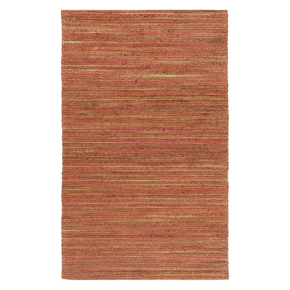 3X5 Solid Woven Accent Rug Rust - Safavieh Top