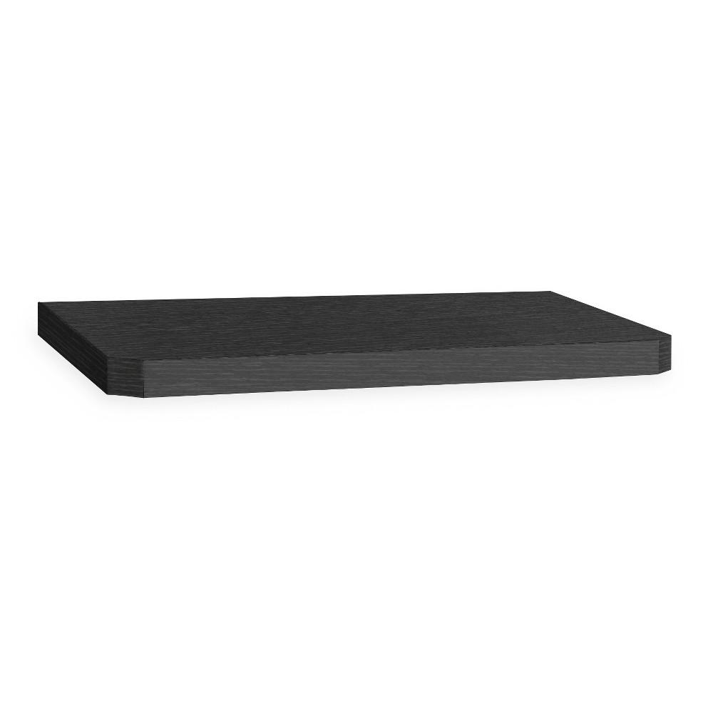"Image of ""24"""" Eco Friendly Decorative Wall Shelf Black - Way Basics"""