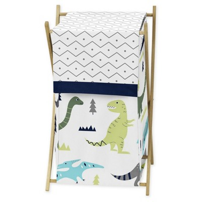 Sweet Jojo Designs Laundry Hamper - Blue & Green Mod Dino