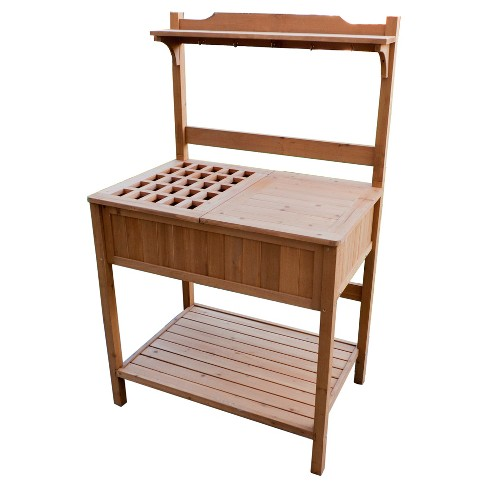 Potting Bench With Recessed Storage - Natural - Merry Products - image 1 of 10