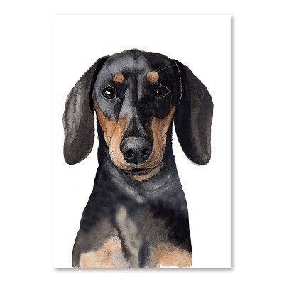 Americanflat Dachshund by Cami Monet Poster