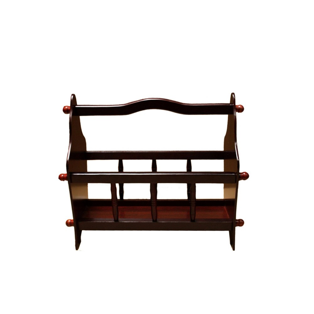 "Image of ""14"""" Magazine Rack Espresso Brown - Ore International"""