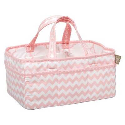 Trend Lab® Storage Caddy - Pink Chevron
