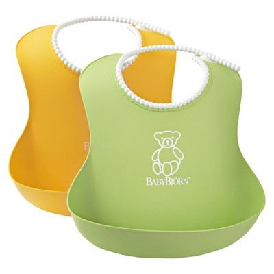 BABYBJORN Soft Bib - 2pk - Green/Yellow