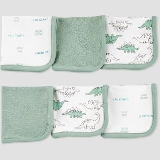 Baby Boys Dino Washcloth Set - Just One You® made by carters Green