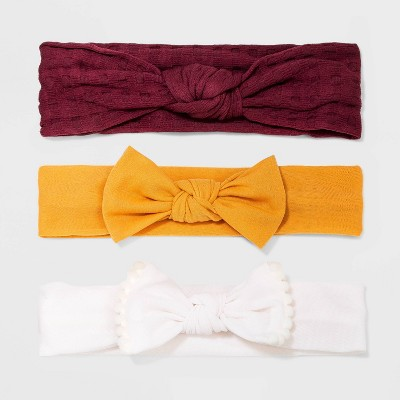 Baby Girls' 3pk Bow Headbands - Cat & Jack™