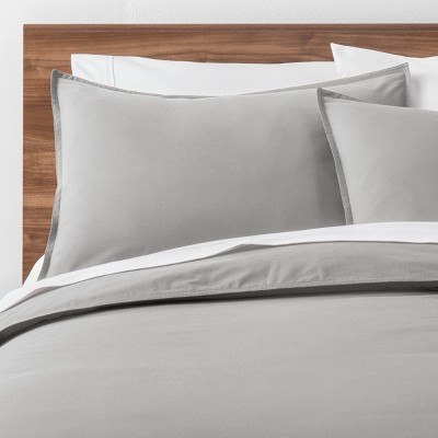 Light Gray Easy Care Solid Duvet Cover Set (Full/Queen)- Made By Design™
