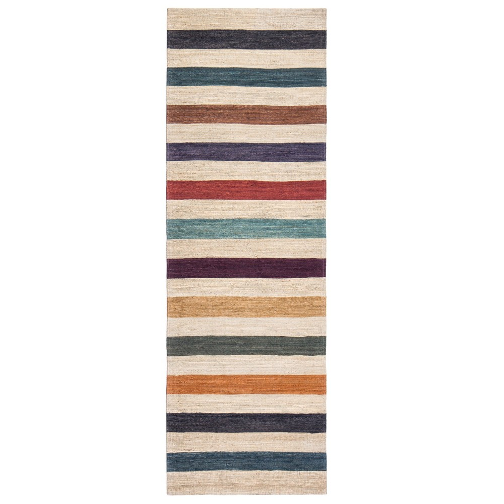 Stripe Woven Runner 2'X8' - Anji Mountain, Multicolored