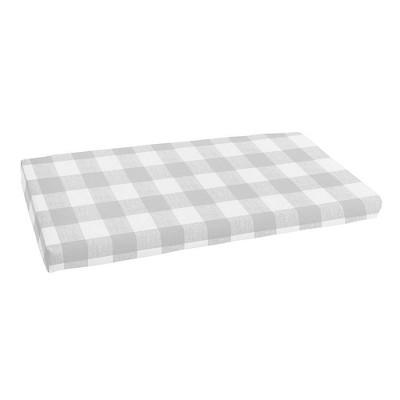 """19"""" x 48"""" Anderson Indoor Outdoor Bench Cushion Bristol Sea Salt Gray - Sorra Home"""
