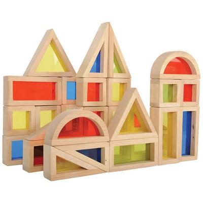 Guidecraft Rainbow Blocks  - 30 Pcs