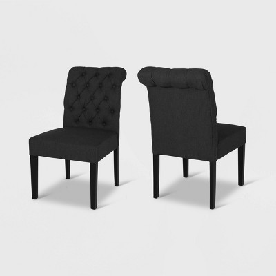 Set of 2 Broxton Tufted Rolltop Dining Chairs - Christopher Knight Home