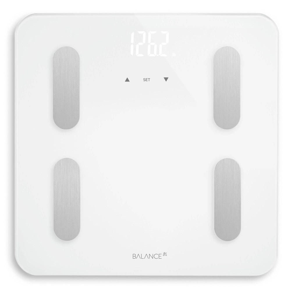 Image of Balance Body Composition Glass/Plastic Personal Scale White - Greater Goods