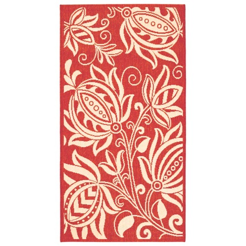 Gori Patio Rug - Red / Natural - Safavieh® - image 1 of 3