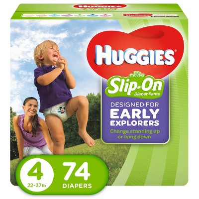 Huggies Little Movers Slip-On Diaper Pants - Size 4 (74ct)