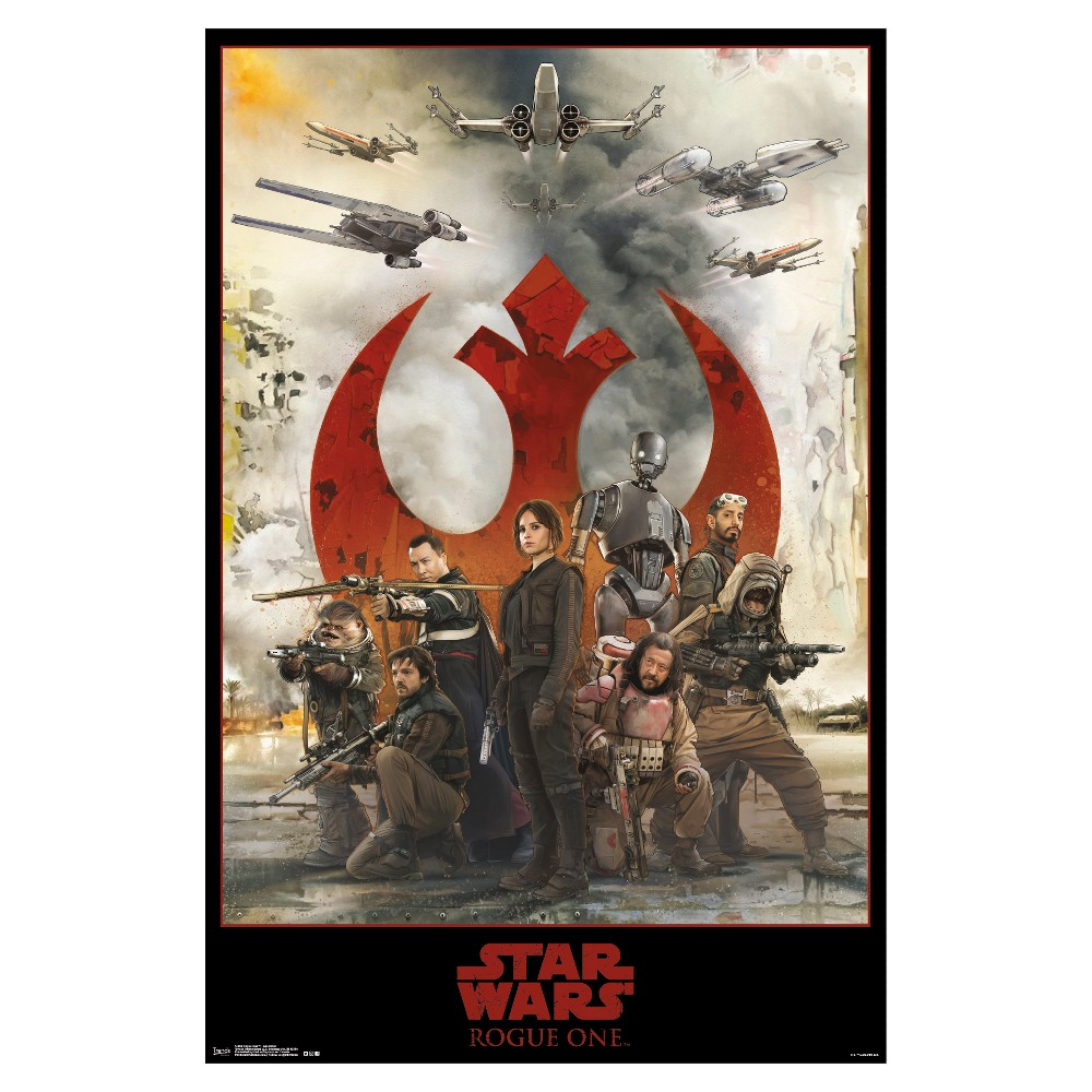 Image of Star Wars Rogue One: A Star Wars Story Assemble Poster 34x22 - Trends International, Multi-Colored