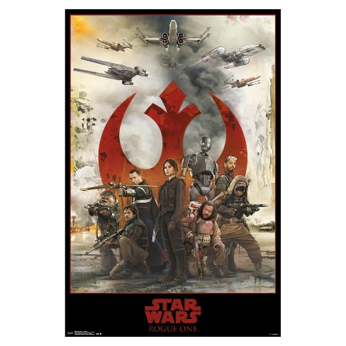 Star Wars Rogue One: A Star Wars Story Assemble Poster 34x22 - Trends International - image 1 of 2