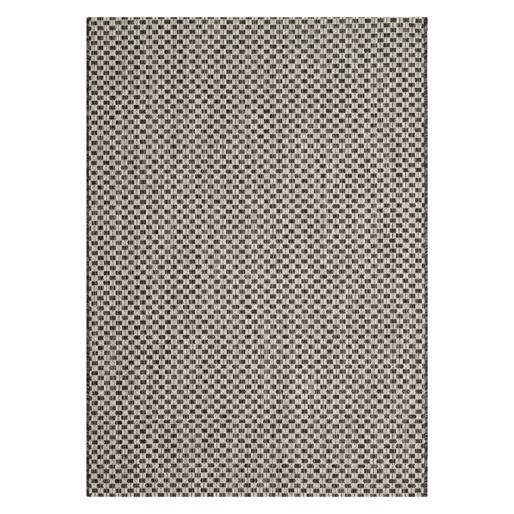 Tabatha 4' x 5'7 Indoor/Outdoor Rug Black/Light Gray - Safavieh
