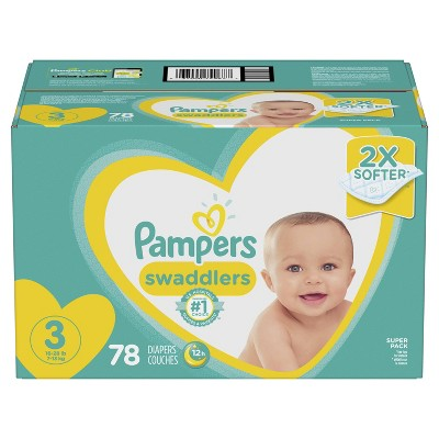 Pampers Swaddlers Diapers Super Pack - Size 3 (78ct)