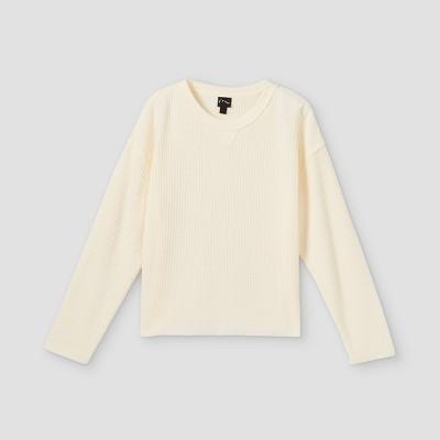 Girls' Boxy Waffle Long Sleeve T-Shirt - art class™