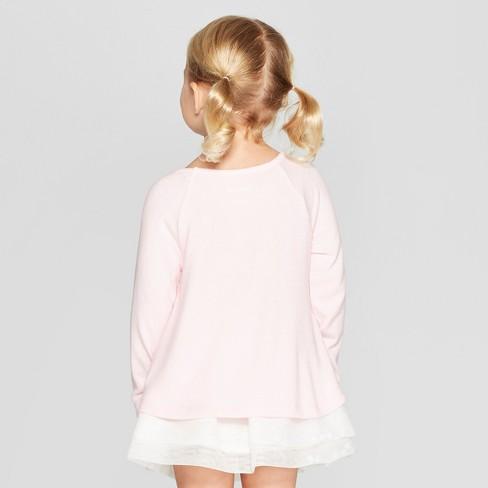 ed527320348 Toddler Girls  Long Sleeve Unicorn T-Shirt - Cat   Jack™ Pink   Target