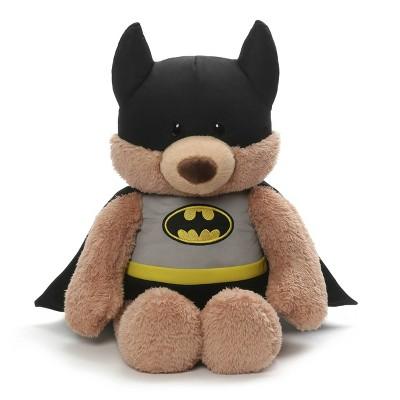 "G by GUND DC Comics Batman Stuffed Animal Plush Beige Teddy Bear 15"""