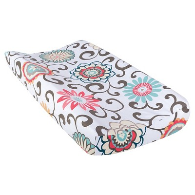 Trend Lab Waverly Pom Pom Play Floral Changing Pad Cover