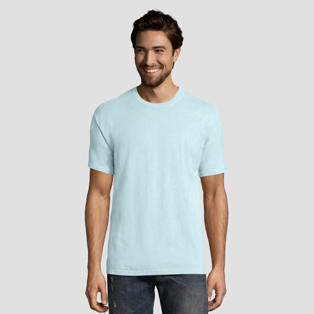 Hanes 1901 Men's Short Sleeve T-Shirt - Sky Blue L
