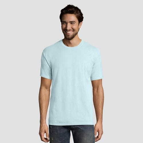Hanes 1901 Men's Short Sleeve T-Shirt - Soothing Blue M