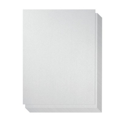 Best Paper Greetings 48-Pack Light Silver Colored Paper, 8.5 x 11 Inches
