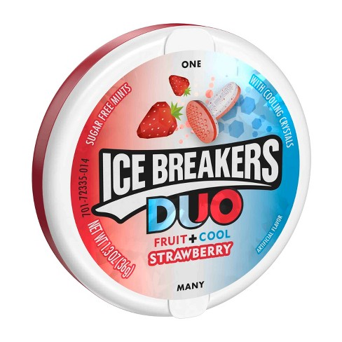 Ice Breakers Duo Strawberry Sugar Free Mint Candies - 1.3oz - image 1 of 2