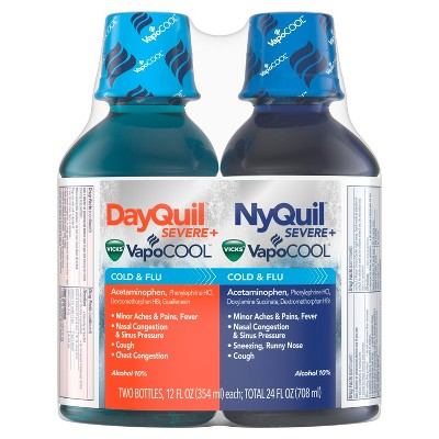 Cold & Flu: DayQuil + NyQuil Severe Vicks VapoCOOL Liquid