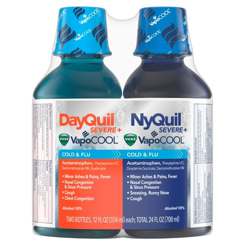 vicks dayquil nyquil severe with vapocool cold flu relief liquid